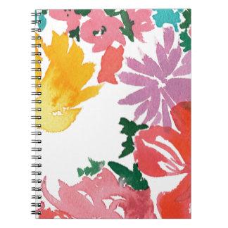 Blom- anpassadeanteckningsbok för ljus vattenfärg anteckningsbok med spiral