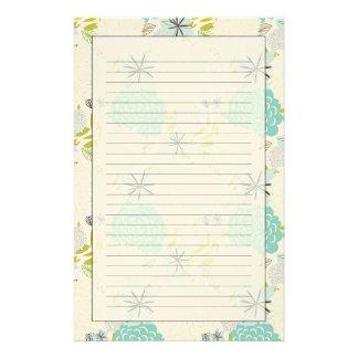 Blom- bakgrund brevpapper