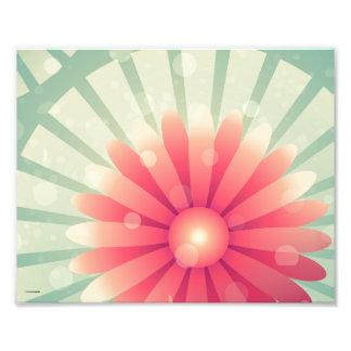 Blom- bakgrund fototryck