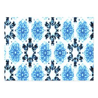 Blom- blått för Retro Snowflake Set Av Breda Visitkort