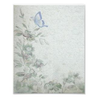 Blom- blått för vintage konstfoto