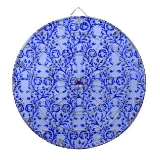 Blom- blåttDartboard för Retro vintage Darttavla