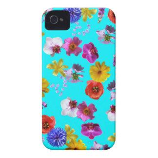 Blom- blåttfodral iPhone 4 Case-Mate fodraler