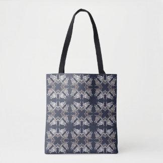 blom- blåttmönster för barock stil tygkasse