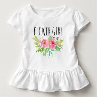 Blom-/blomma chic vattenfärg Girl-12 T-shirts