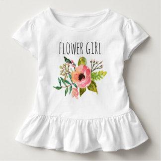 Blom-/blomma chic vattenfärg Girl-2 Tee Shirt