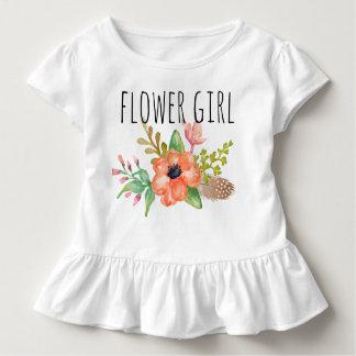 Blom-/blomma chic vattenfärg Girl-3 Tröjor