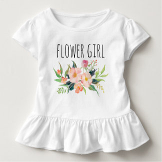 Blom-/blomma chic vattenfärg Girl-7 Tshirts