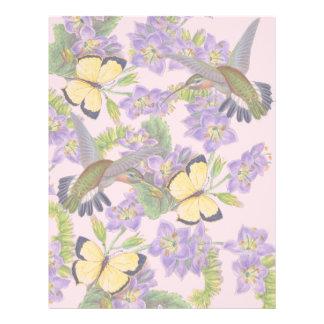 Blom- blommor för Hummingbirdfågelfjärilar Brevhuvud