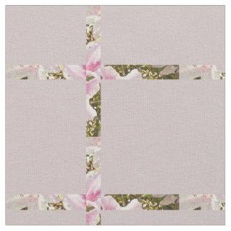 Blom- botanisk randkontroll för rosa Azaleas Tyg