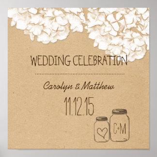 Blom- bröllop för lantliga Kraft pappra vanlig Poster