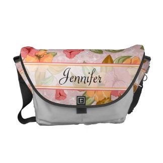 Blom- bröllop för rosavår kurir väska