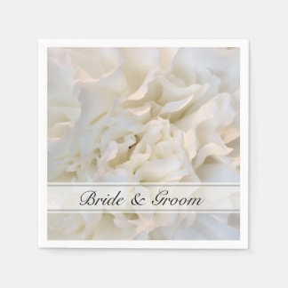 Blom- bröllop för vitnejlika servett