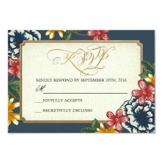 Blom- bröllop OSAmellanläggskort 8,9 X 12,7 Cm Inbjudningskort