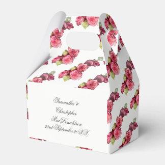 Blom- bröllopbukett för rosa ros presentaskar