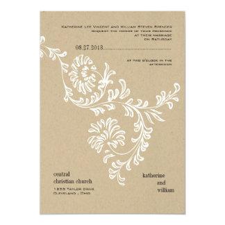 Blom- bröllopinbjudan för land 12,7 x 17,8 cm inbjudningskort
