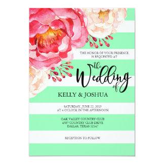 Blom- bröllopinbjudan för Mint 12,7 X 17,8 Cm Inbjudningskort