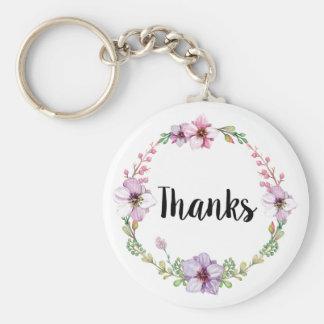 Blom- brölloptack Keychain Rund Nyckelring