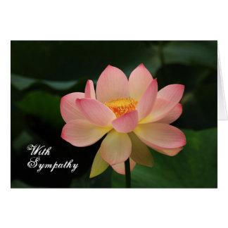 Blom- buddistisk sympati för unik rosa lotusblomma hälsningskort