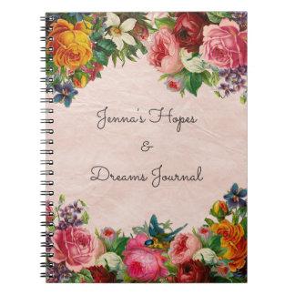 Blom- bukett anteckningsbok