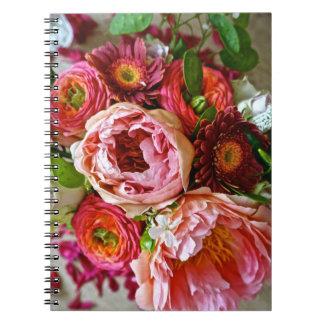 Blom- bukett, spirala anteckningsböcker