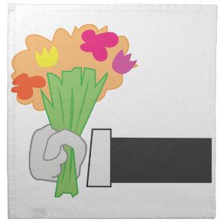 Blom- bukett tygservett