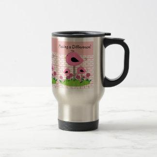 Blom- Caregivertravel mug Rostfritt Stål Resemugg