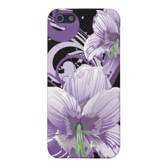 blom- casing för violet 4 iPhone 5 skal