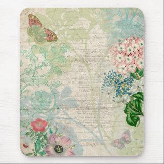 Blom- Collage Mousepad för vintage Musmatta