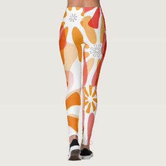 Blom- damasker med signalljuset leggings