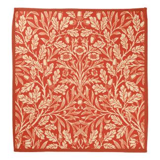 Blom- damast för art nouveau, Mandarinorange Kerchiefs