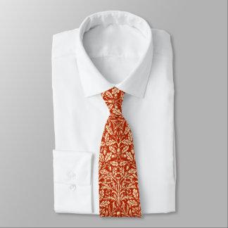 Blom- damast för art nouveau, Mandarinorange Slips