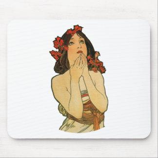 Blom- damutklipp för art nouveau musmattor