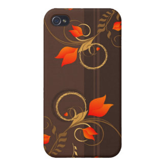 Blom- dekor iPhone 4 cover