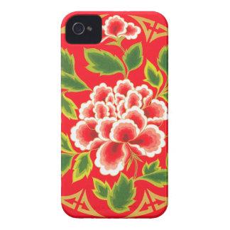 Blom- dekorativ design för elegant vintage iPhone 4 Case-Mate fodraler