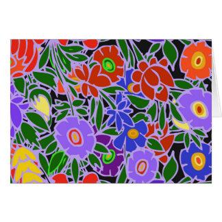 Blom- design #5 hälsningskort