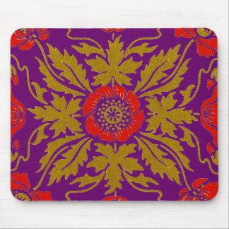 Blom- design för art nouveau musmattor