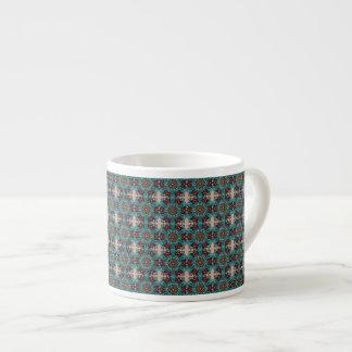 Blom- design för mandalaabstraktmönster espressomugg