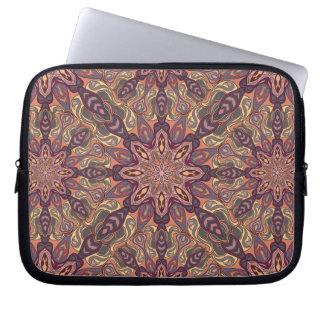 Blom- design för mandalaabstraktmönster laptop fodral