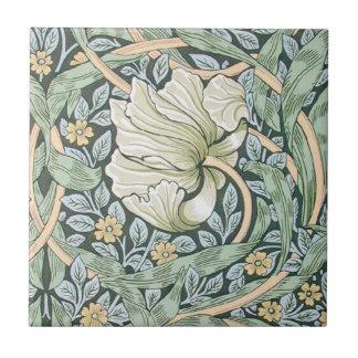 Blom- design för William Morris Pimpernel Liten Kakelplatta