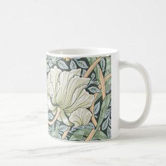 Blom- design för William Morris Pimpernel Vit Mugg