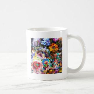 Blom- fantasimashup vit mugg