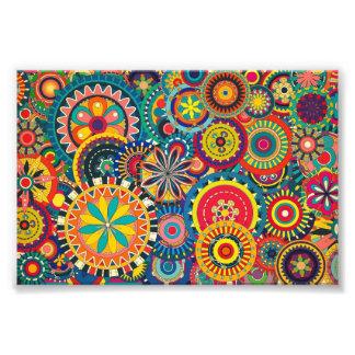 Blom- färgrikt mönster för härlig struktur fotokonst
