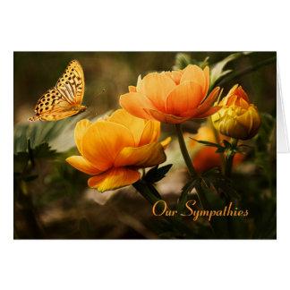 Blom- fjärilssympatikort hälsningskort