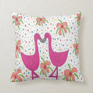 Blom- FlamingoFiestadekorativ kudde