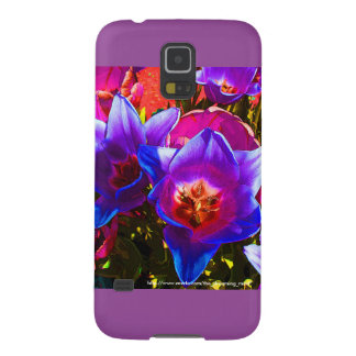 Blom- fodral för fantasiSamsung galax S5 Galaxy S5 Fodral