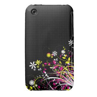 Blom- fodral för Grungedesignblackberry curve Case-Mate iPhone 3 Case