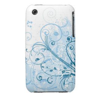 Blom- fodral för Grungedesignblackberry curve Case-Mate iPhone 3 Fodral