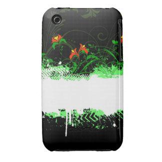 Blom- fodral för Grungedesignblackberry curve Case-Mate iPhone 3 Fodraler