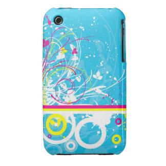 Blom- fodral för Grungedesignblackberry curve Case-Mate iPhone 3 Skydd